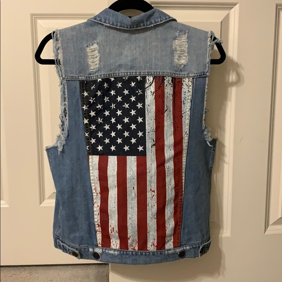 Kittenish Jackets & Blazers - Kittenish American Flag Vest